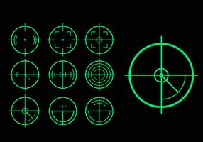 Green target laser tag variation vector pack