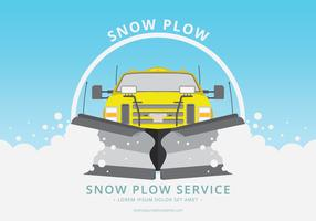 Snow Plow Car Illustration
