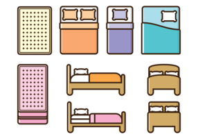 Mattress Vector Icons