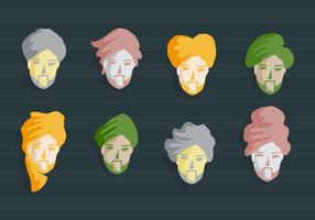 Turban Guy Vector Illustration