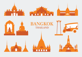 Bangkok Vector Icons
