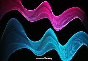 Abstract Colorful Pink And Blue Wave - Vector