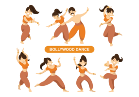 Indian Bollywood Dancing Vector