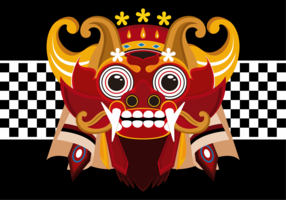 Barong Bali Vector Illustration