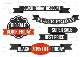 Free Black Friday Vector Ribbons