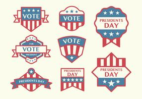 Election Badge Vectors
