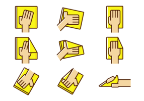 Vector Hand Wipe Icon