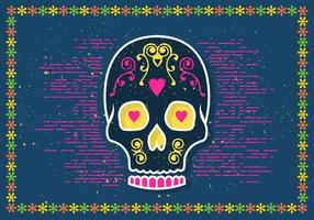 Free Halloween Sugar Skull Vector Illustration