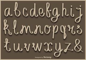 Lowercase Handwritten Letters Vector Alphabet