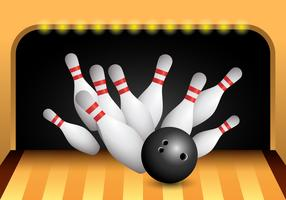 Bowling Alley Strike Vector