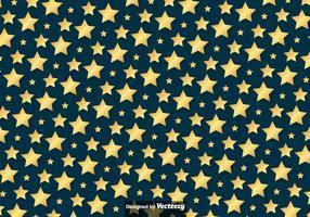 Vector Golden Stars Pattern