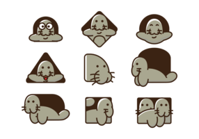 Manatee Vector Icons