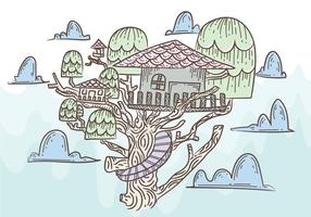 Free Tree House Vector Illustration