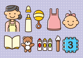 Babysitter Vector Icons