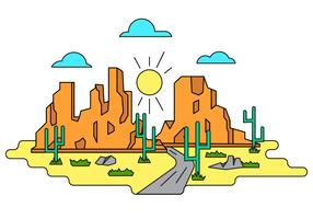 Grand Canyon Vector Illustration