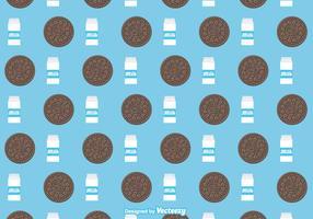 Free Oreo Cookies Vector Pattern