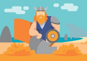 Viking Ship Vector Art