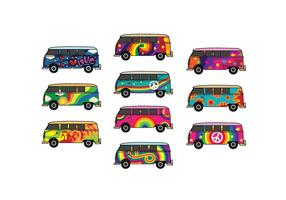 Free Hippie Bus Vector Pack