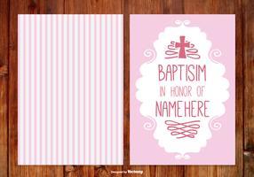 Stripe Baptisim Card for Girl
