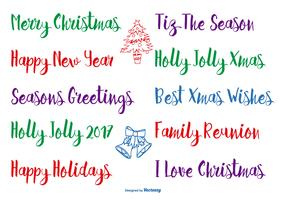 Hand Drawn Christmas Lettering