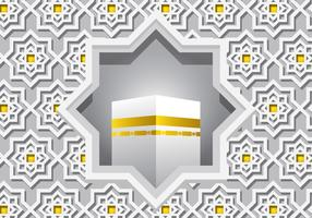 Decorative White Ka'bah Vector