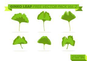 Folha de ginko pacote vetorial livre vol. 2