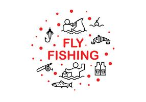Fly Fshing Icon Vectors