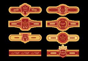 Cigar Label Vector