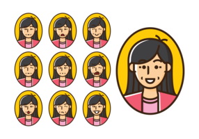 Mommy Emotions Expression Vector