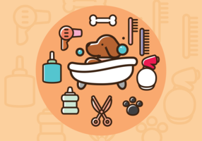 Dog Wash Vector Icons