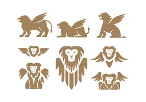 Winged Lion Vectors