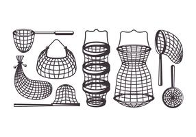 Fishing Net Vector Icons