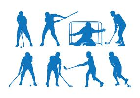 Floorball Silhouette Vector