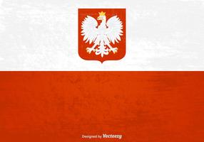 Free Polish Grunge Flag Vector