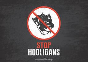Free Stop Hooligans Vector Poster