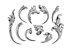 Etched Acanthus Vectors