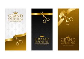 Ribbon Cutting Template Vector