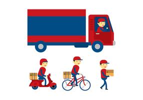 Delivery Man Flat Vector