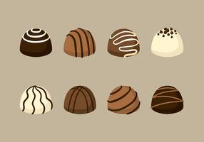 Assorted Truffles Vector