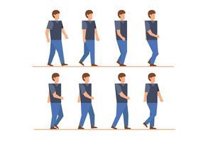 Man walk cycle vectors