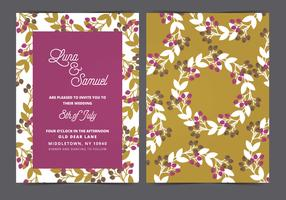 Wreath Vector Wedding Invite