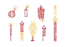 Fire Crackers Icon Vector