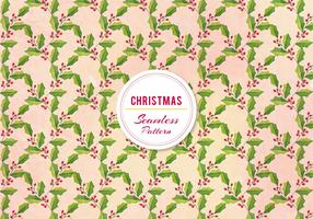 Free Vector Christmas Holly Pattern