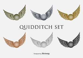Quidditch Flying Flat Vector Iconset