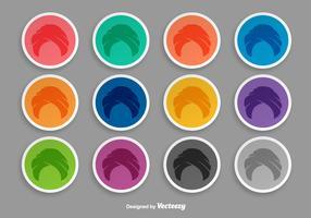 Turban Icon Set Of Stickers