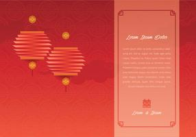 Chinese Wedding Template Illustration