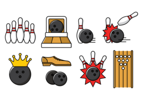 Bowling Alley Vector Illustration