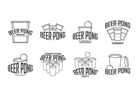 Free Beer Pong Logo Vector