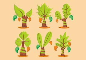 Mango Tree Vector Set