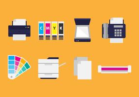 Free Flat Printing Icons